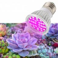 PROFI LED žiarovka pre všetky rastliny 6W, E27, High-power+, ružová