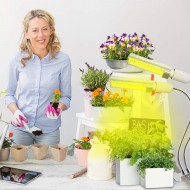 PROFI LED lampa so zabudovaným časovačom a stmievačom na všetky rastliny, sunlight, 27W, dvojramenná