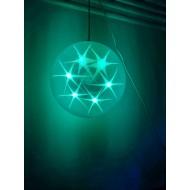 LED svietiaca GUĽA 20cm, RGB - viacfarebná