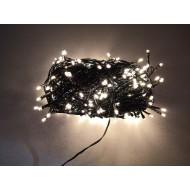 PROFI LED vianočné osvetlenie 20m reťaz so zeleným káblom, 200xLED, IP44, teplá biela