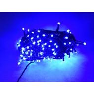 PROFI LED vianočné osvetlenie 30m reťaz so zeleným káblom, 300xLED, IP44, modrá - jednofarebné
