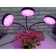 PROFI LED GROW trojramenná lampa so zabudovaným časovačom a stmievačom, 45W - plné spektrum