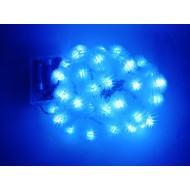 LED vianočné osvetlenie - snehové gule, 4m reťaz, 40xLED, IP20, 3xAA batérie,  modré