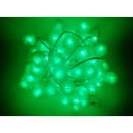 LED vianočné osvetlenie - snehové gule, 10m reťaz, 100xLED, IP20, zelená