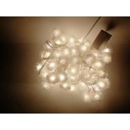 LED vianočné osvetlenie - snehové gule, 10m reťaz, 100xLED, IP20, teplá biela