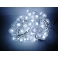 LED vianočné osvetlenie, snehové gule, 10m reťaz, 100xLED, IP20, studená biela