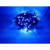 PROFI LED vianočné osvetlenie 10m reťaz so zeleným káblom, 100xLED, IP44, modrá