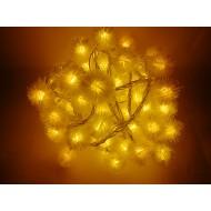 LED vianočné osvetlenie, snehové gule, 10m, reťaz, 100xLED, IP20 žltá