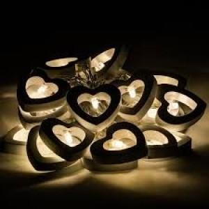 LED drevené srdiečka