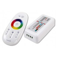 Dotykový RF diaľkový ovládač pre RGBW LED pásiky, 2,4GHz, 6A