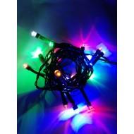 LED vianočné osvetlenie, 2,5 m reťaz, 25xLED, IP44, RGB-viacfarebná