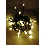 LED vianočné osvetlenie, 4 m reťaz, 50xLED, IP44 ,teplá biela