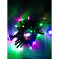 LED vianočné osvetlenie, 4 m reťaz, 50xLED, IP44 , RGB -viacfarebná