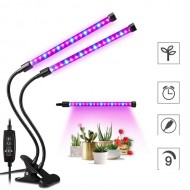 PROFI LED GROW trubicová lampa so zabudovaným časovačom a stmievačom, 18W, dvojramenná