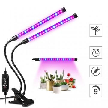 PROFI LED GROW trubicová lampa so zabudovaným časovačom a stmievačom na všetky rastliny, 18W, dvojramenná