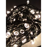 LED vianočné osvetlenie 20m reťaz so zeleným káblom, 300xLED, IP20, teplá biela