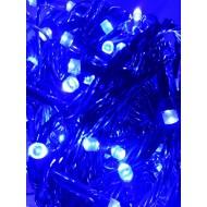 LED vianočné osvetlenie 21m reťaz so zeleným káblom, 300xLED, IP20, modrá