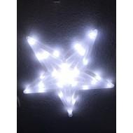 LED vianočná hviezda so stálym svietením, studená  biela