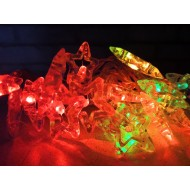 LED svetelná reťaz na batérie, 20x LED, hviezdy, viacfarebné