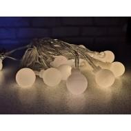 LED vianočné cherry gule 3m, IP20, teplá biela, 2xAA batérie