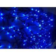 PROFI LED svetelný záves - GIRLANDA s trblietavým FLASH efektom, 6,5m, 200xLED, IP44, modrá + studená biela