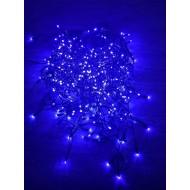 PROFI LED svetelný záves - GIRLANDA s trblietavým FLASH efektom, 17m, 500xLED, IP44, modrá+studená biela