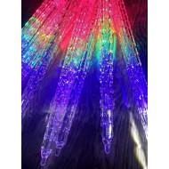LED vianočné CENCÚLE 30 cm , 8xLED, 2,5m, IP20, RGB-viacfarebné
