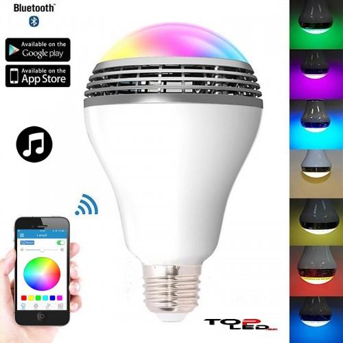94ecfaf7c ... MUSIC Bluetooth LED žiarovka s reproduktorom, 8W, E27 ...