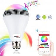 MUSIC Bluetooth LED žiarovka s reproduktorom, 8W, E27