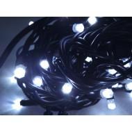 PROFI vianočná EXTRA HRUBÁ LED svetelná reťaz vonkajšia na spájanie FLASH - 100LED - 8m studená biela + studená biela, IP44