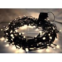 200 LED vianočná svetelná reťaz-studená biela 30m, 220V