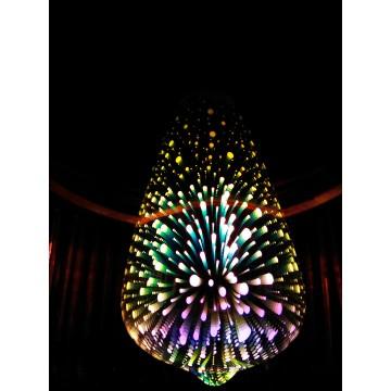 Dizajnová 3D LED žiarovka 3W bulb-vintage, E27, RGB viacfarebná