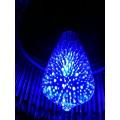 Dizajnová 3D LED žiarovka 3W bulb, E27, modrá