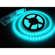 Led pásik RGB viacfarebný, 5m, 300 led, SMD 5050, 60W, IP65, vodotesný, SET + diaľkové ovládanie (44 tl.) + adaptér