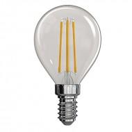 LED žiarovka filament mini globe 4W E14 teplá biela