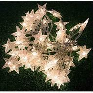 LED Vianočná svetelná reťaz- HVIEZDY 2m, 3xAA batérie,20LED ,teplá biela