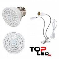 BASIC LED lampa na všetky rastliny, 6W, dvojramenná, fialová