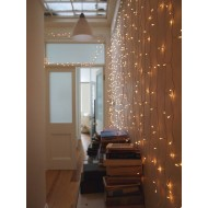 LED vianočné osvetlenie - GIRLANDA, 3m reťaz, 100xLED, IP20 teplá biela
