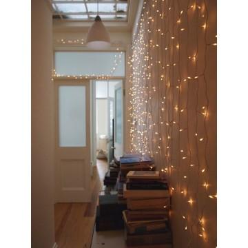 LED svetelný záves  - GIRLANDA, 3m reťaz, 100xLED, IP20 teplá biela