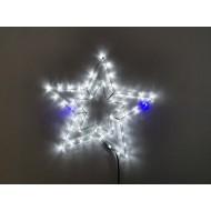 LED hviezda, chladná biela s FLASH efektom