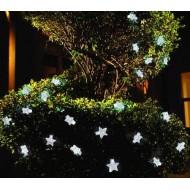 LED Vianočná svetelná reťaz- HVIEZDY 5m, 220V,50LED ,studená biela