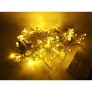 LED vianočné osvetlenie, 10m reťaz, 100xLED, IP20 žltá