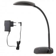 LED stolná lampa s USB MA66-D,7W-čierna