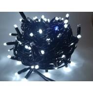 PROFI vianočná EXTRA HRUBÁ LED svetelná reťaz vonkajšia na spájanie FLASH - 200LED - 17,5m studená biela + modrá, IP65