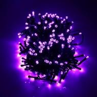 LED vianočné osvetlenie 10m reťaz so zeleným káblom, 100xLED, IP44, fialová