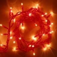 LED vianočné osvetlenie 10m reťaz, 100xLED, IP20 červená