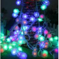 LED vianočné osvetlenie - snehové gule, 10m reťaz, 100xLED, IP44 RGB viacfarebné