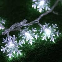 LED svetelná reťaz SNEHOVÉ VLOČKY