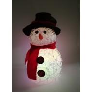 LED vianočný snehuliak menší- svetelná dekorácia, RGB - viacfarebný