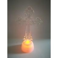 LED svietiaci kríž, RGB - viacfarebný